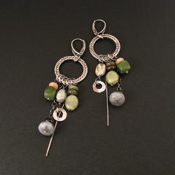 kolczyki,awangardowe,młotkowane,koła - Kolczyki - Biżuteria