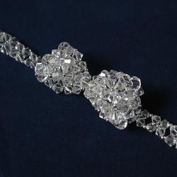 Kokarda,crystal,pleciona,elegancka,ślub - Naszyjniki - Biżuteria