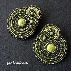 elegancki,unikalny,haft koralikowy,asymetryczny - Kolczyki - Biżuteria