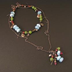 naszyjnik,kolorowy,etniczny,kwarc,nefryt - Naszyjniki - Biżuteria
