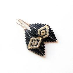 kolczyki,plecione,romby,Extrano, - Kolczyki - Biżuteria