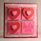 Kartki okolicznościowe kartka,scrapbooking,Walentynki