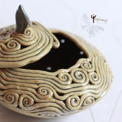 ceramika,misterna,unikat,rękodzieło,szkatułka - Ceramika i szkło - Wyposażenie wnętrz