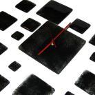 Zegary zegar czarny oryginalny design szklany art do biur
