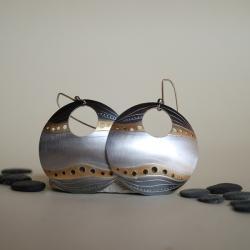 malownicze,orginalne,koła,duże - Kolczyki - Biżuteria