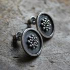 Kolczyki kolczyki srebro faktura wzór unikat bali