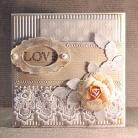 Kartki okolicznościowe kartka,scrapbooking,ślub,Walentynki
