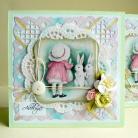 Kartki okolicznościowe wielkanoc,życzenia,zające,wiosna,kwiaty
