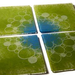 podkładki szklane,seledyn i turkus, - Ceramika i szkło - Wyposażenie wnętrz