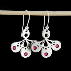 kolczyki,swarovski,różowe,fuksja,małe - Kolczyki - Biżuteria