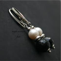 srebro,kolczyki,bali,czarne,oksydowane,turmalin, - Kolczyki - Biżuteria