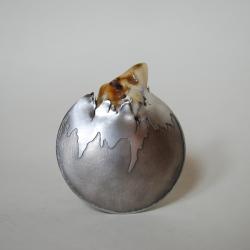 unikatowa,duża,autorska,nitza,bursztyn - Broszki - Biżuteria