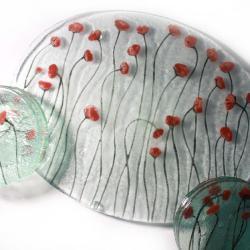 zestaw deserowy szkło artystyczne,design kuchnia - Ceramika i szkło - Wyposażenie wnętrz