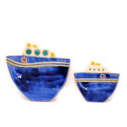 płaskorzeźba,statek,na ścianę,dekoracja - Ceramika i szkło - Wyposażenie wnętrz