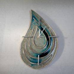 zegar,ceramika,zegar wiszący - Zegary - Wyposażenie wnętrz