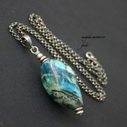 srebro,niebieskie,naszyjnik,oksydowane,chryzokola, - Naszyjniki - Biżuteria