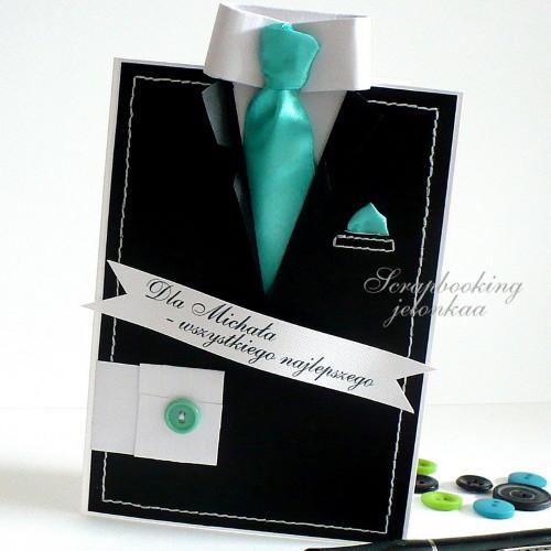 garnitur krawat kartka dla niego m czyzna kartki okoliczno ciowe akcesoria w arsneo. Black Bedroom Furniture Sets. Home Design Ideas