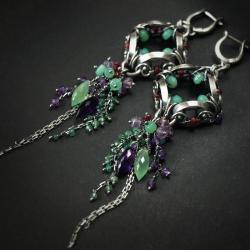 eleganckie,ekskluzywne,bogate,wire-wrapping - Kolczyki - Biżuteria