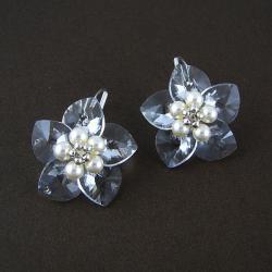 Innocent Flowers - plecione kolczyki Swarovski - Kolczyki - Biżuteria