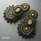 Kolczyki elegancki,haft koralikowy,