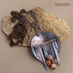 miedź,miedziany,oksyda,kuty,agat,minerał,metalopla - Wisiory - Biżuteria