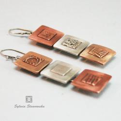 kolczyki ze srebra,ręcznie robione - Kolczyki - Biżuteria