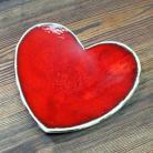 Ceramika i szkło romantyczne,słodkie,czerwone serce,