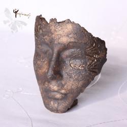 maska,ceramika,unikat,rękodzieło,rzeźba,prezent - Ceramika i szkło - Wyposażenie wnętrz