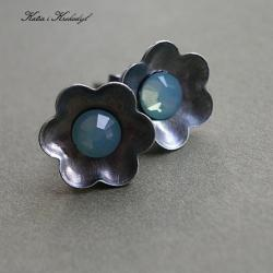 sztyfty,drobne,kwiaty,romantyczne - Kolczyki - Biżuteria