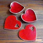 Ceramika i szkło romantyczne,czerwone serca
