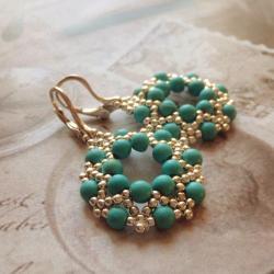 turkus,kolczyki,Extrano - Kolczyki - Biżuteria