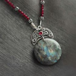 orientalny,okazały,wyrazisty,baśniowy - Naszyjniki - Biżuteria