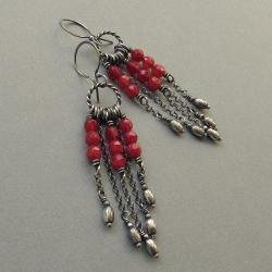 długie,wiszące,łańcuszki,kobiece, - Kolczyki - Biżuteria