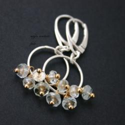 srebro,niebieskie,kolczyki,akwamaryn - Kolczyki - Biżuteria