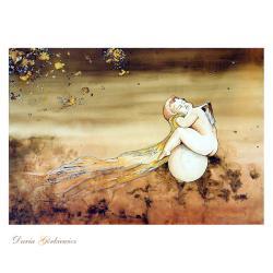 aniołek,kobieta,akt,wnętrze,grafika,prezent,anioł, - Ilustracje, rysunki, fotografia - Wyposażenie wnętrz