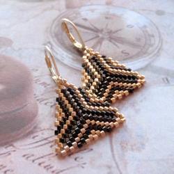 kolczyki,plecione,trójkaąty,Extrano - Kolczyki - Biżuteria