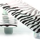 Ceramika i szkło patera zebra patern szkło design na stół