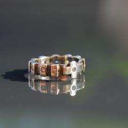 różanien,obrączka,z cyrkoniami - Pierścionki - Biżuteria