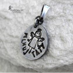 anioł,prezent,art clay,dla taty - Wisiory - Biżuteria
