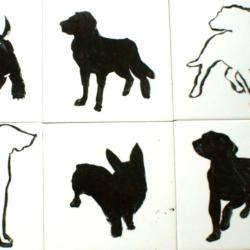 dekory ceramiczne,psy na kaflach,płytki z psami, - Ceramika i szkło - Wyposażenie wnętrz