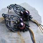 Kolczyki ażurowe,fantazyjne,smukłe,lekkie,wire-wrapping
