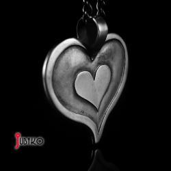 srebrny,mały,serce,serduszko,wisiorek,dziecięcy - Wisiory - Biżuteria