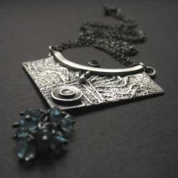 srebro 999,fiann,topaz,niebieskości - Naszyjniki - Biżuteria