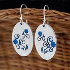 Kolczyki kolczyki,kwiaty,niebieskie,emalia