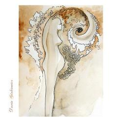 grafika,anioł,akt,prezent,wnętrze,kobieta, - Ilustracje, rysunki, fotografia - Wyposażenie wnętrz