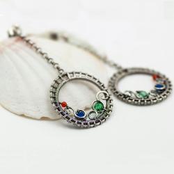 kolczyki,wire-rapping,ażurowe,delikatne - Kolczyki - Biżuteria