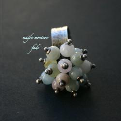 pierscionek,beryl,fado,oksydowany,pasteloyw - Pierścionki - Biżuteria