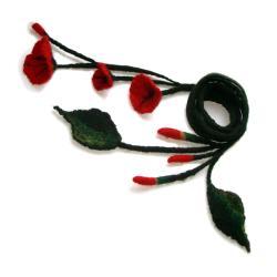 filcowy,długi,naszyjnik,kwiatowy,ekstrawagancki - Naszyjniki - Biżuteria