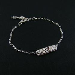 srebrna bransoletka,delikatna,na co dzień - Bransoletki - Biżuteria