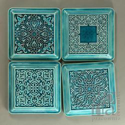 dekory,kafle,ornament,turkus,ceramika - Ceramika i szkło - Wyposażenie wnętrz